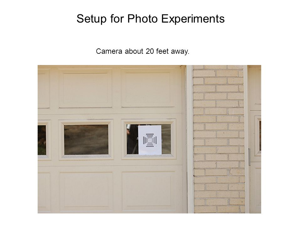 Setup for Photo Experiments