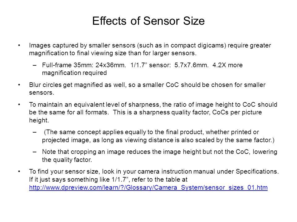 Effects of Sensor Size