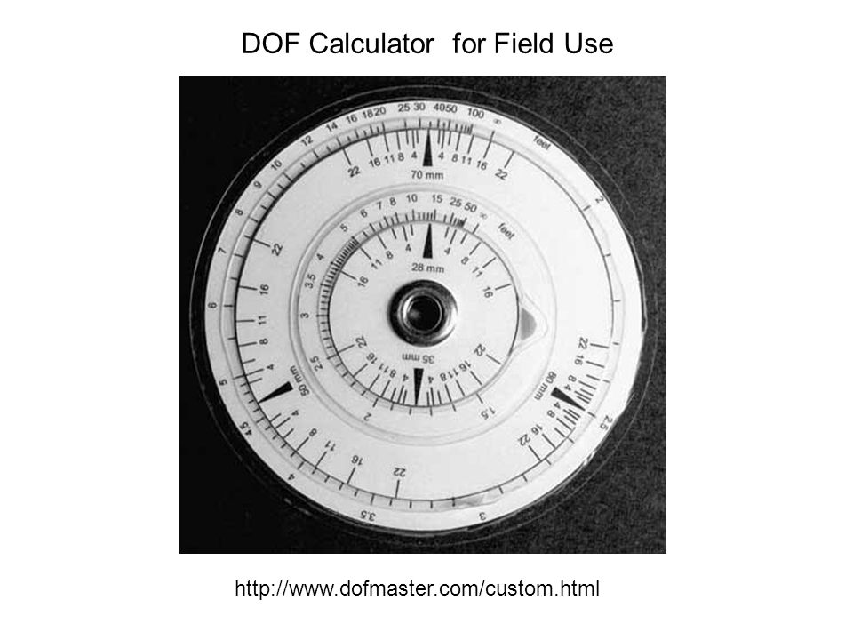 DOF Calculator for Field Use