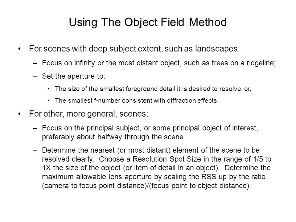 Using The Object Field Method