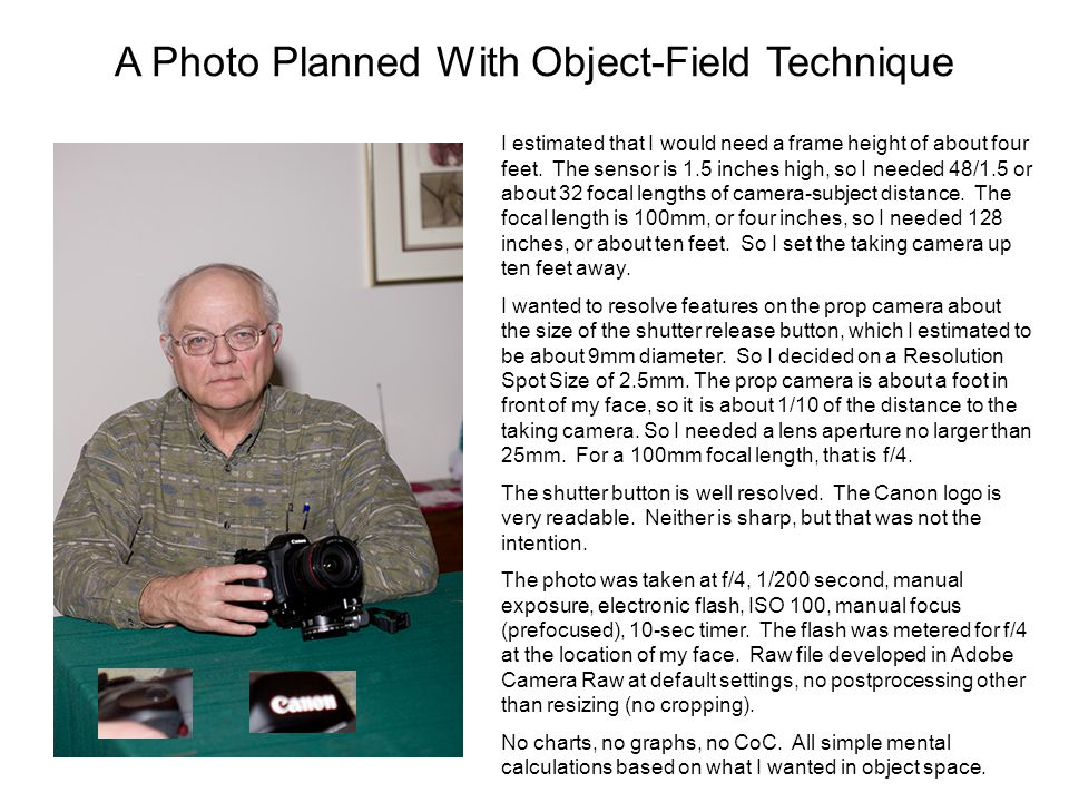 A Photo Planned With Object-Field Technique