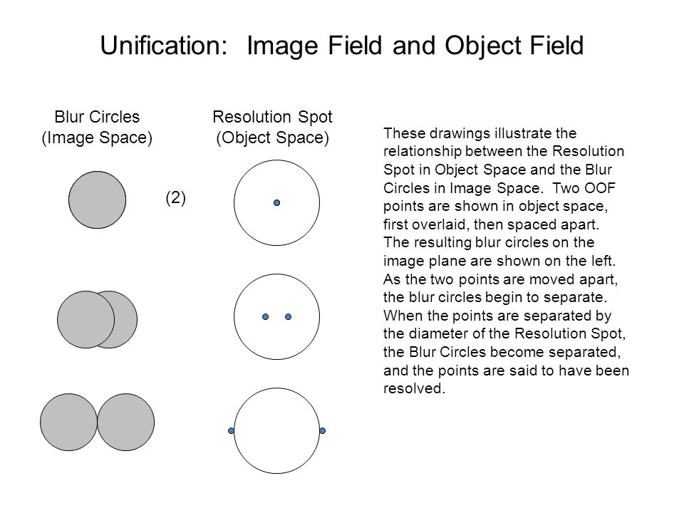 Unification: Image Field and Object Field