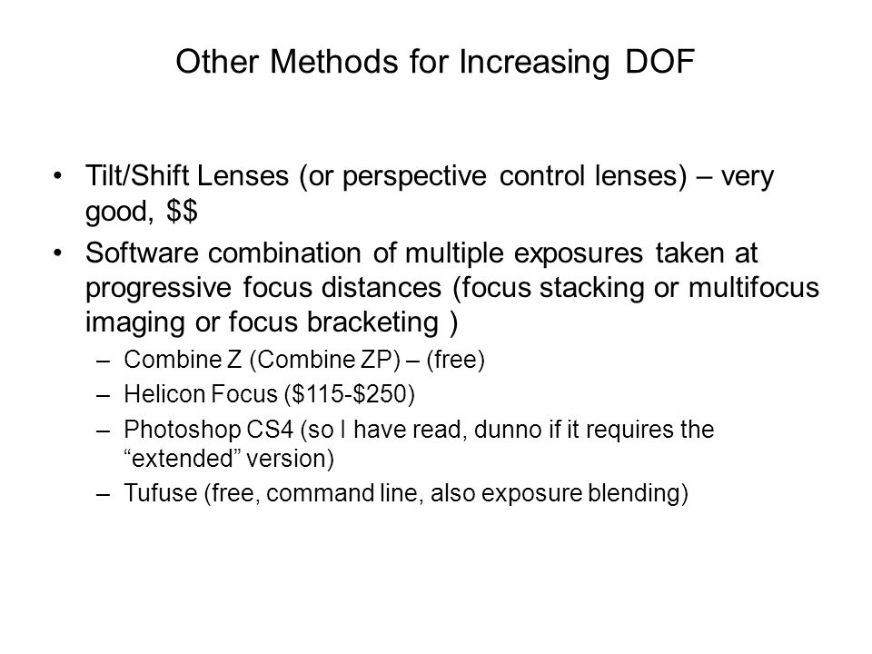Other Methods for Increasing DOF