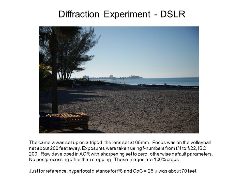 Diffraction Experiment - DSLR
