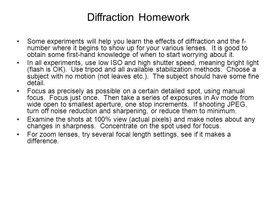 Diffraction Homework