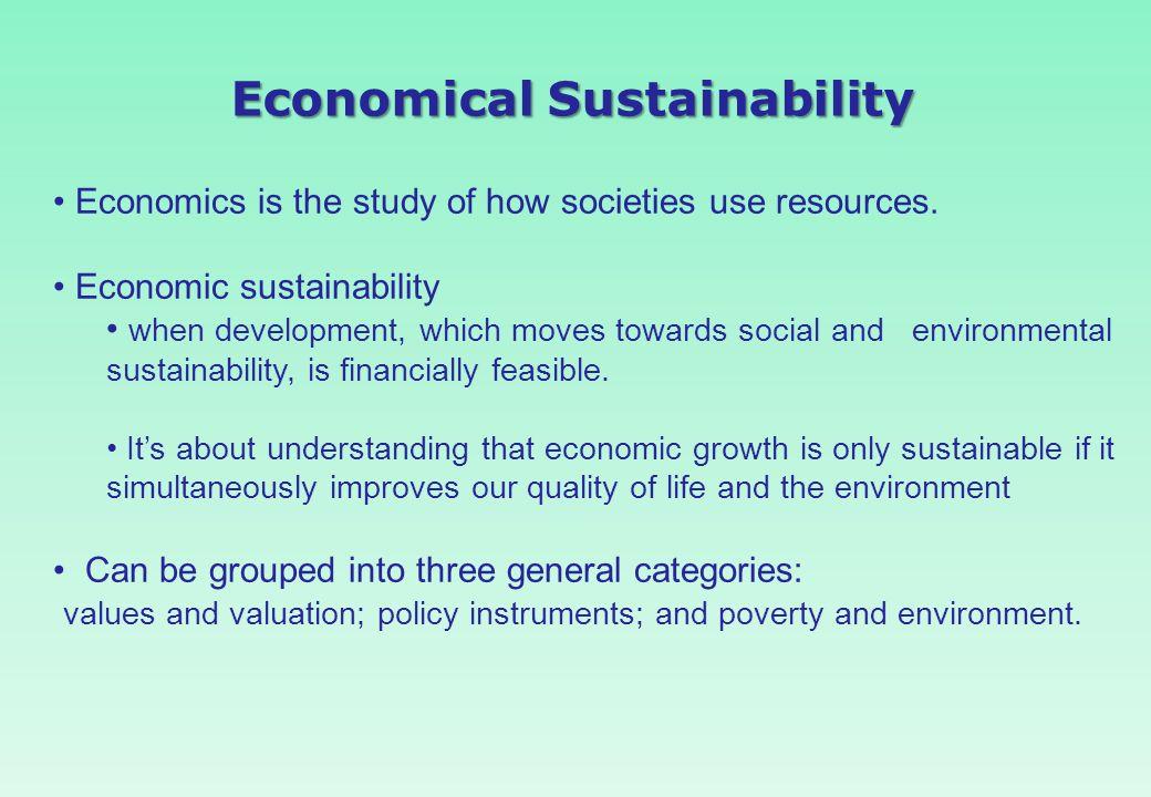 Economical Sustainability