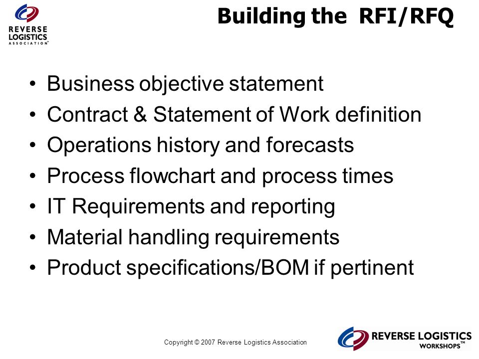 Business objective statement Contract & Statement of Work definition