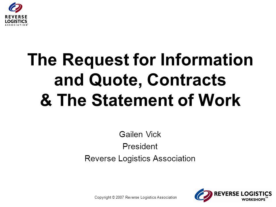Reverse Logi... Reverse Logistics Association