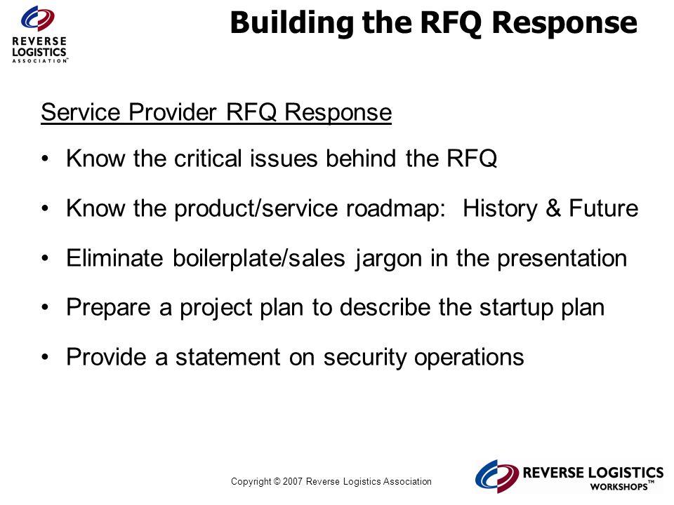 Building the RFQ Response