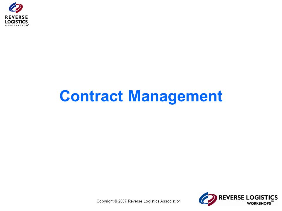Contract Management *