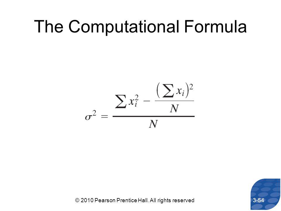 The Computational Formula