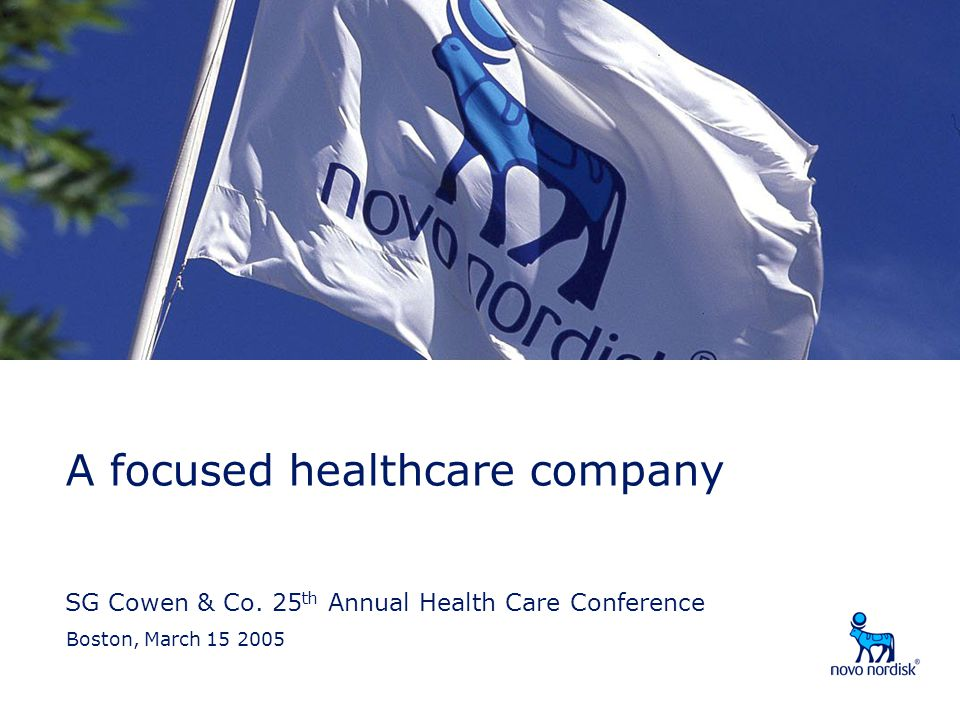 SG Cowen & Co. 25th Annual Health Care Conference
