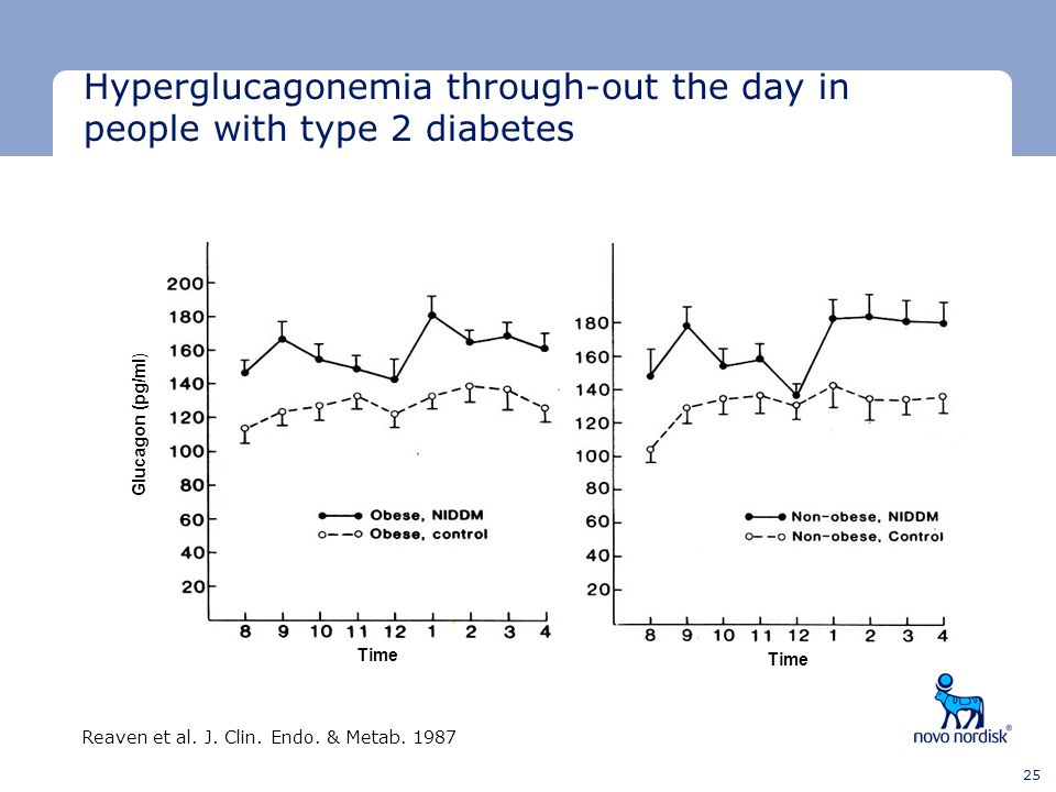 Hyperglucagonemia through-out the day in people with type 2 diabetes