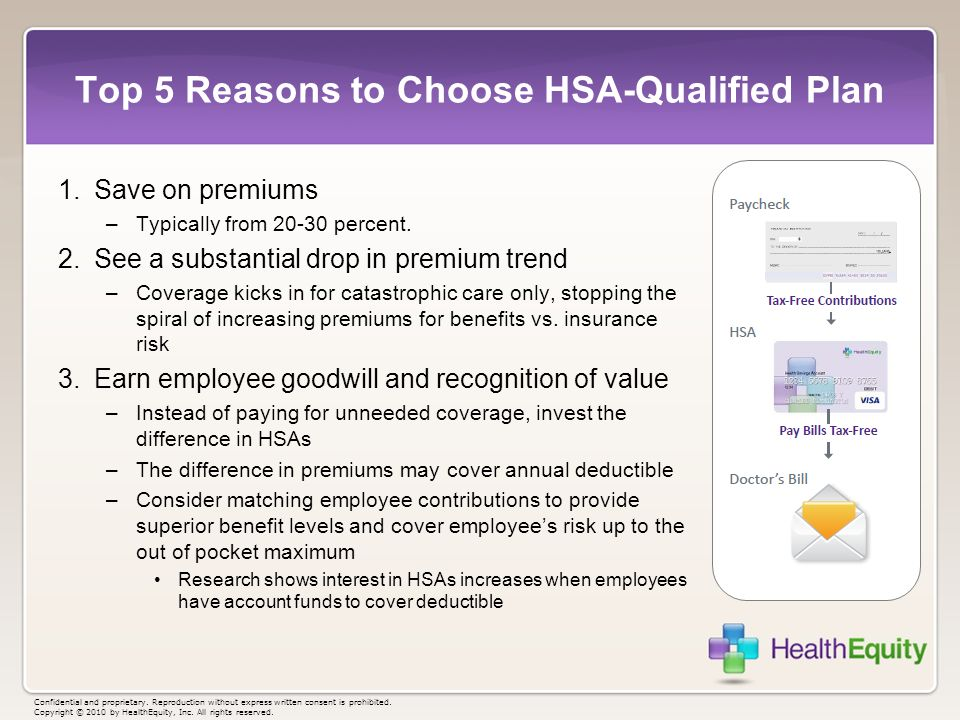 Top 5 Reasons to Choose HSA-Qualified Plan