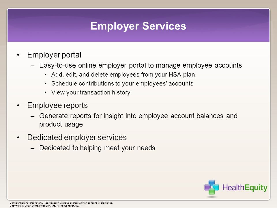 Employer Services Employer portal Employee reports