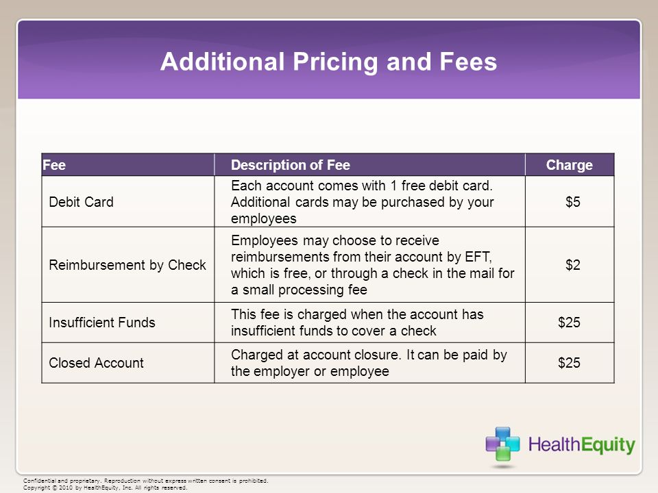 Additional Pricing and Fees