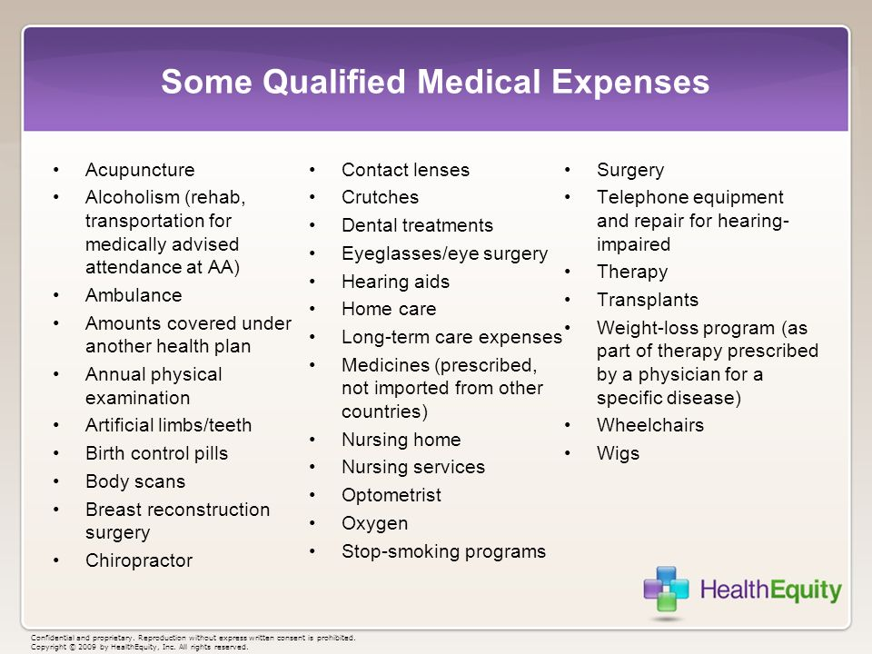 Some Qualified Medical Expenses