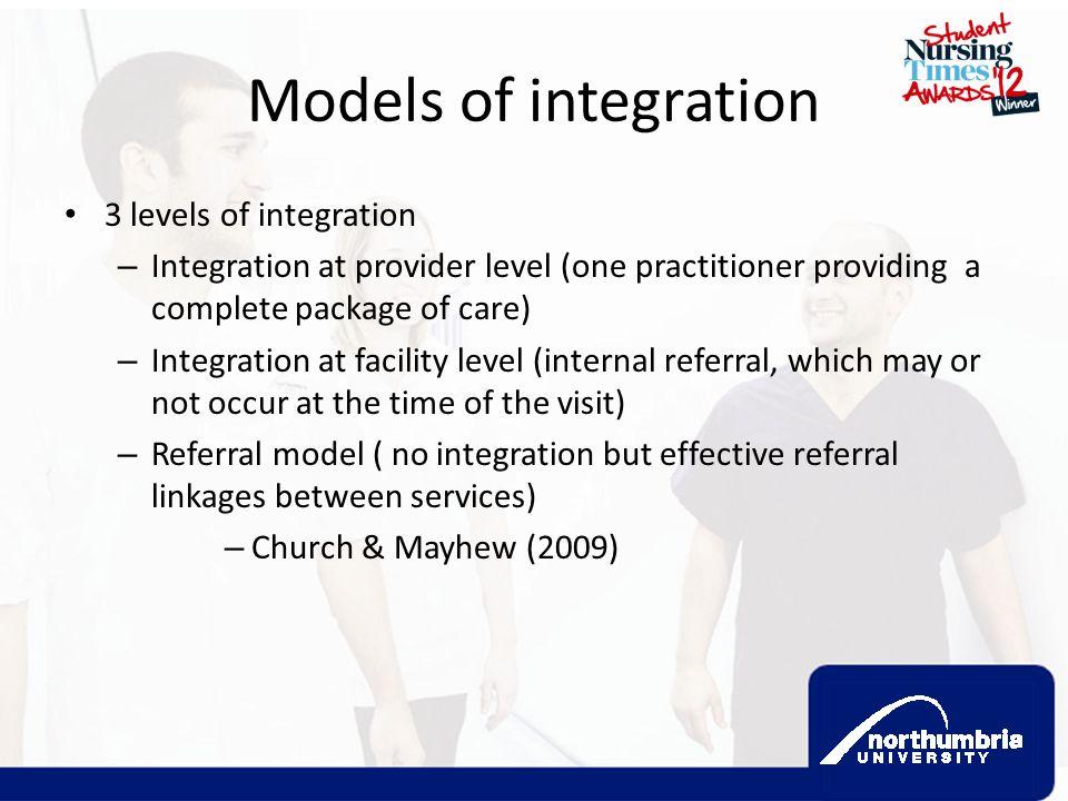 Models of integration 3 levels of integration