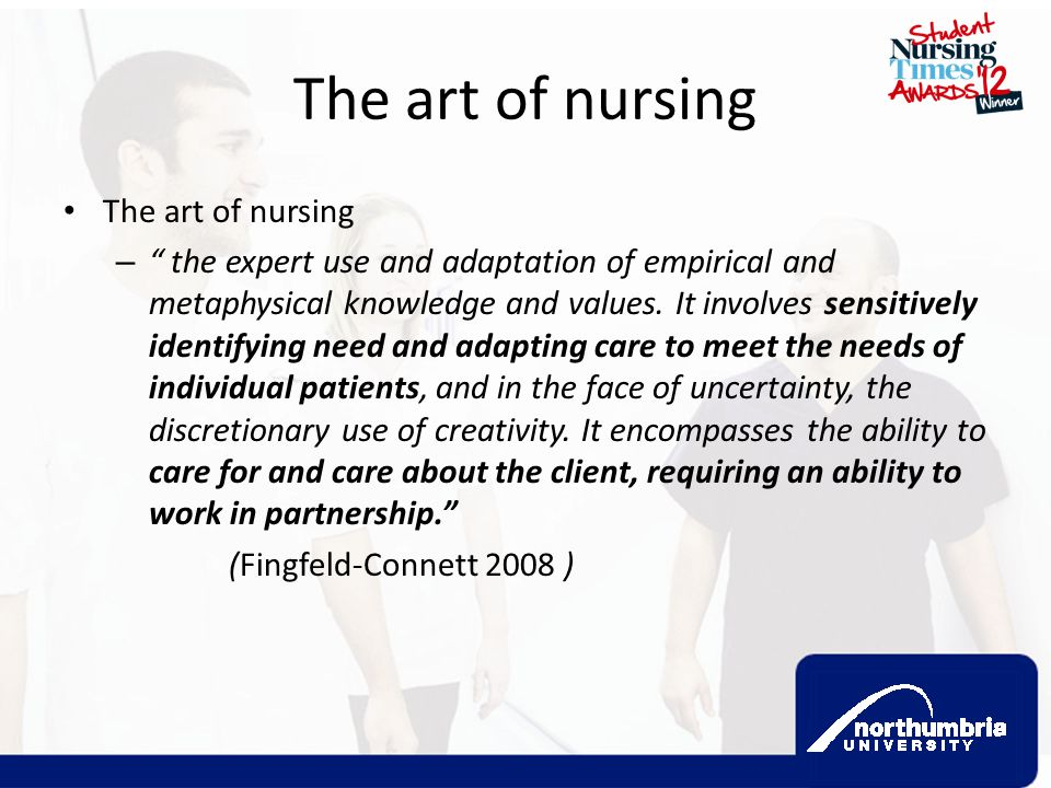 The art of nursing The art of nursing