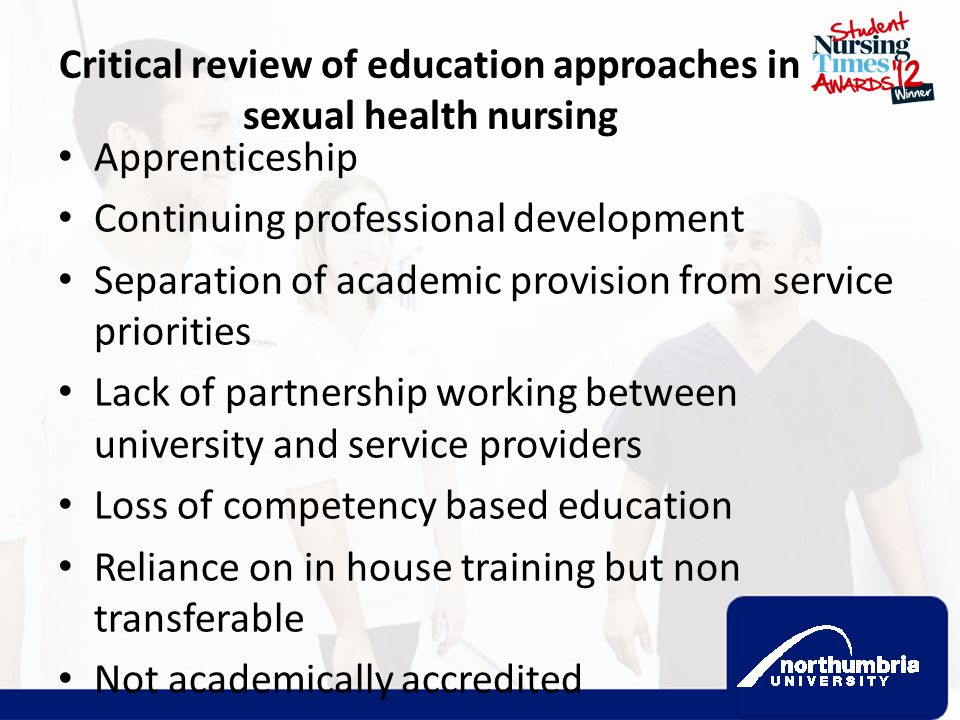 Critical review of education approaches in sexual health nursing