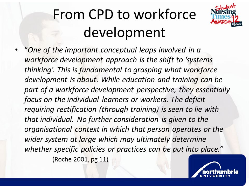 From CPD to workforce development