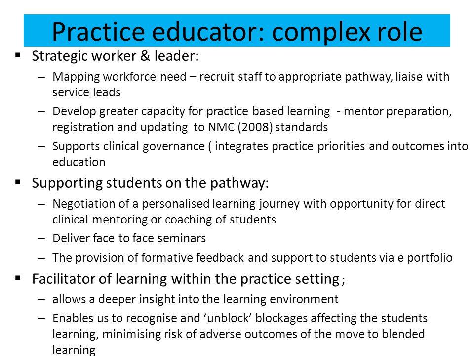 Practice educator: complex role