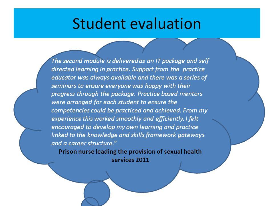 Prison nurse leading the provision of sexual health services 2011