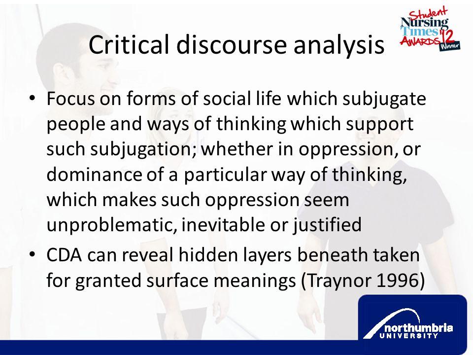 Critical discourse analysis