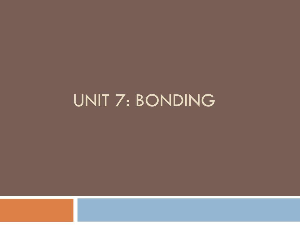 Unit 7: Bonding