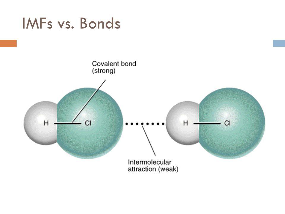IMFs vs. Bonds