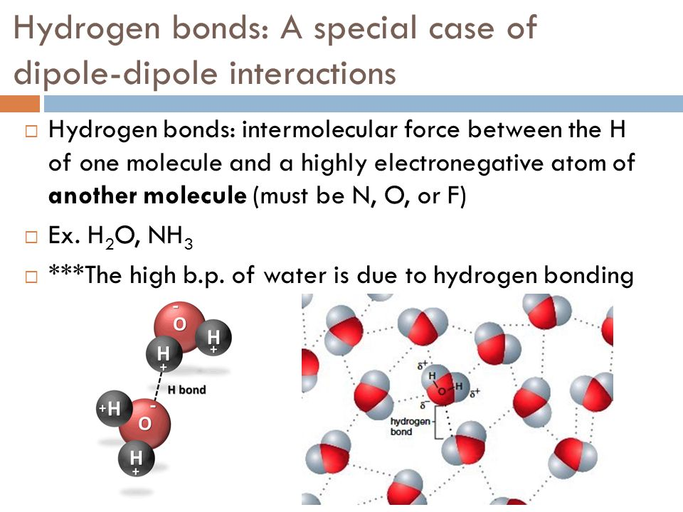 Hydrogen bonds: A special case of dipole-dipole interactions