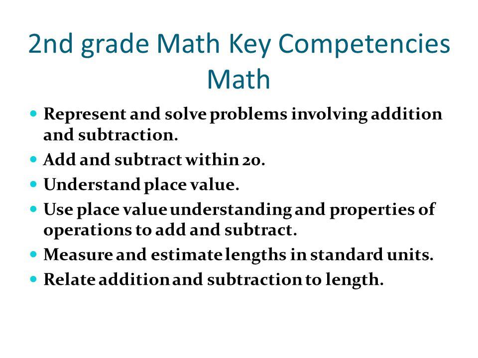 2nd grade Math Key Competencies Math