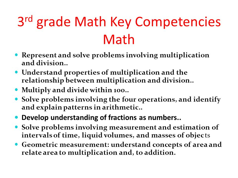 3rd grade Math Key Competencies Math