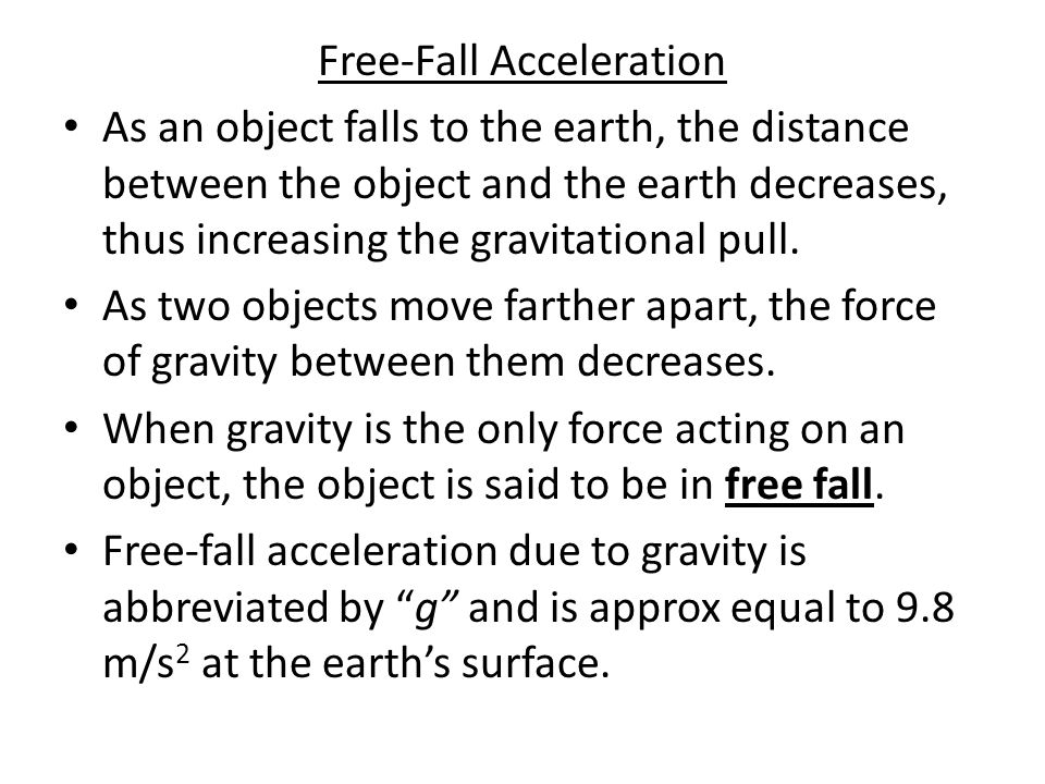 Free-Fall Acceleration