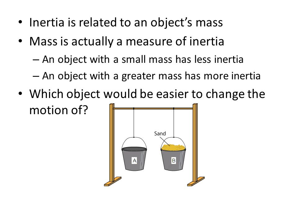 Inertia is related to an object's mass