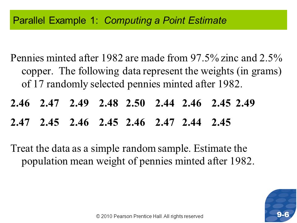 Parallel Example 1: Computing a Point Estimate