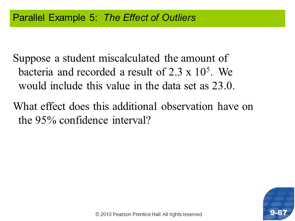 Parallel Example 5: The Effect of Outliers