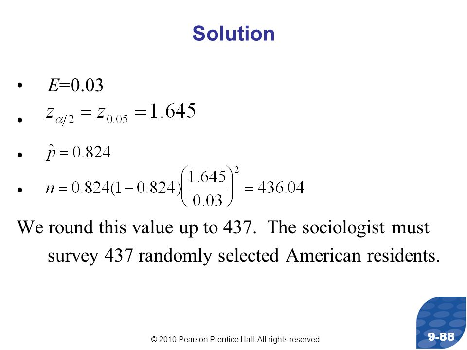 Solution E=0.03. We round this value up to 437.