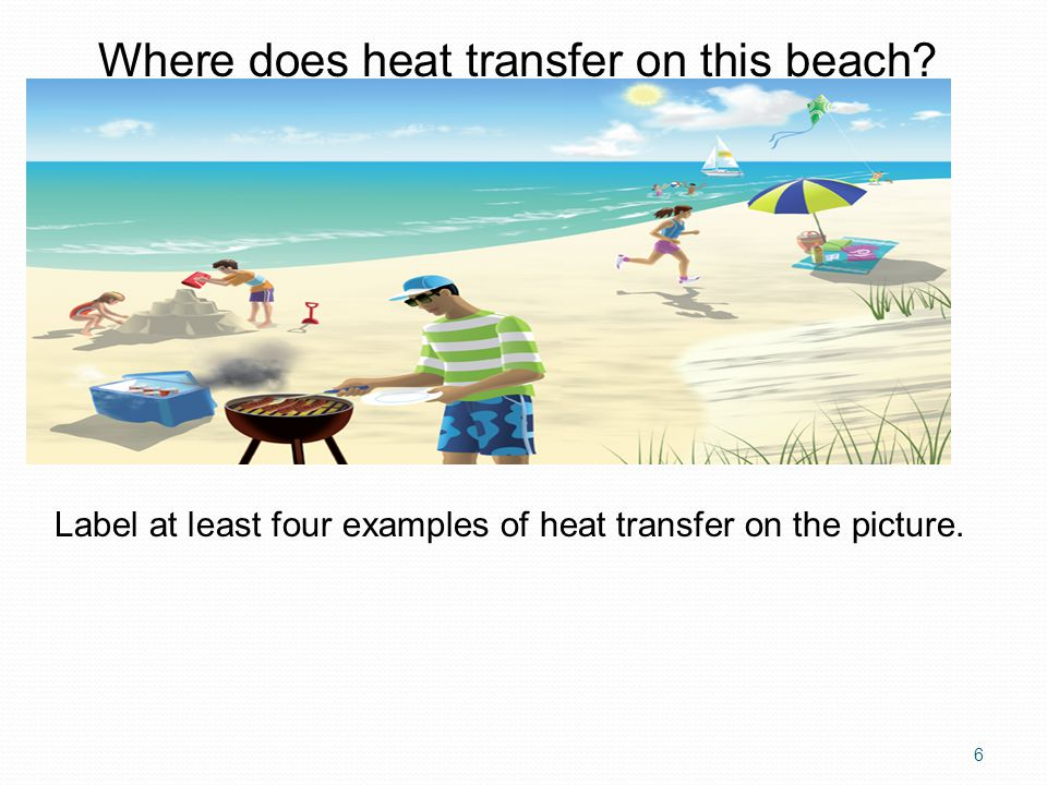 Where does heat transfer on this beach