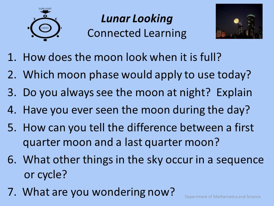 Lunar Looking Connected Learning