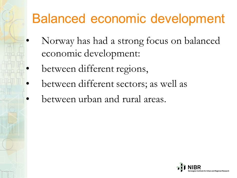 Balanced economic development
