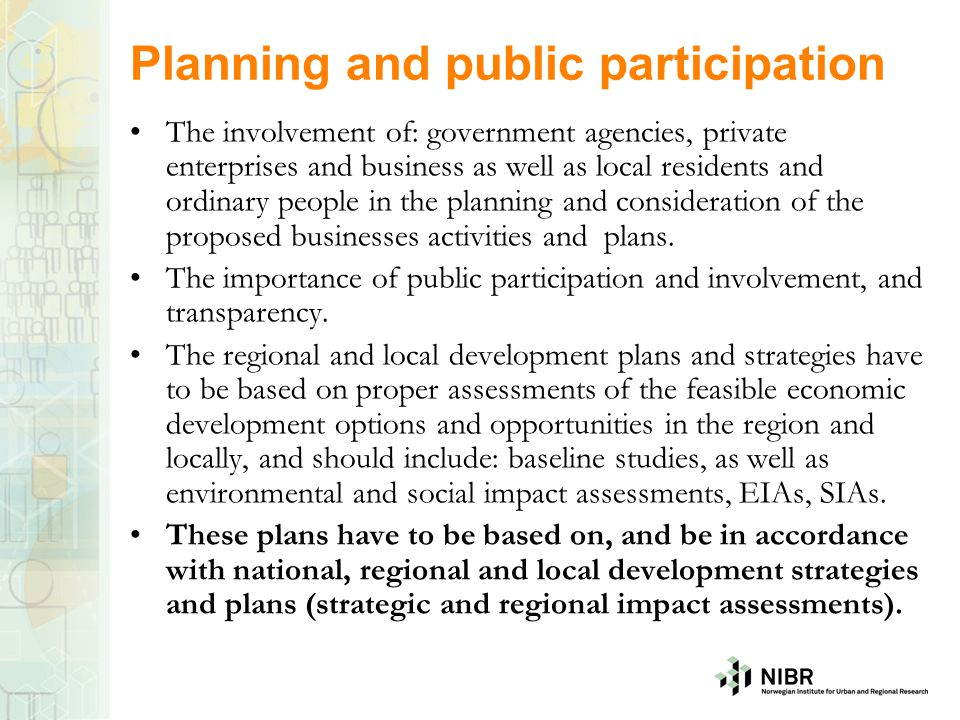 Planning and public participation