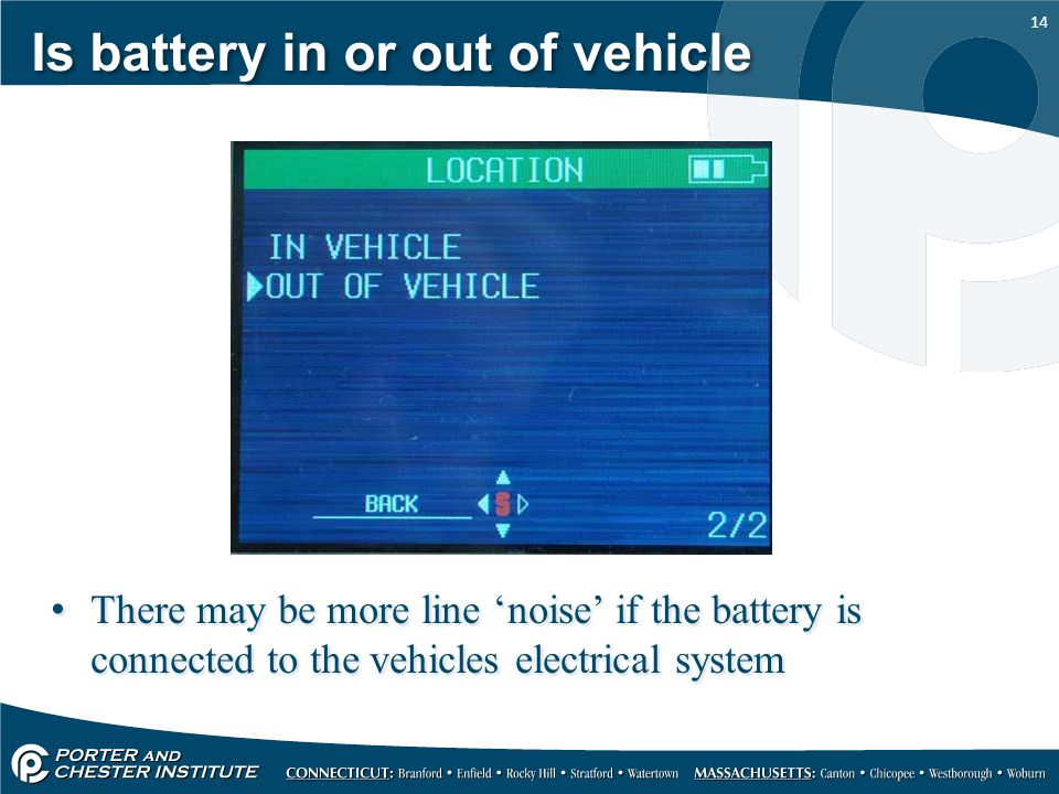 Is battery in or out of vehicle