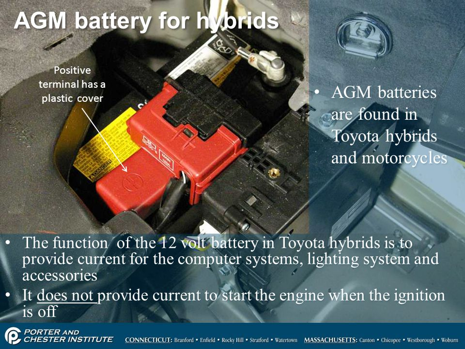 AGM battery for hybrids