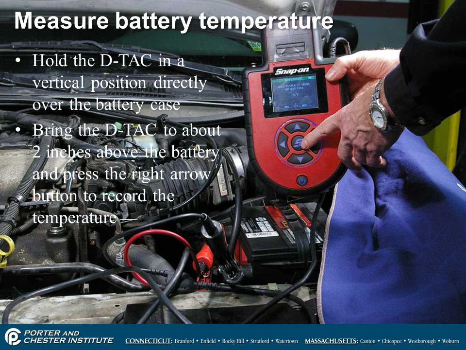 Measure battery temperature