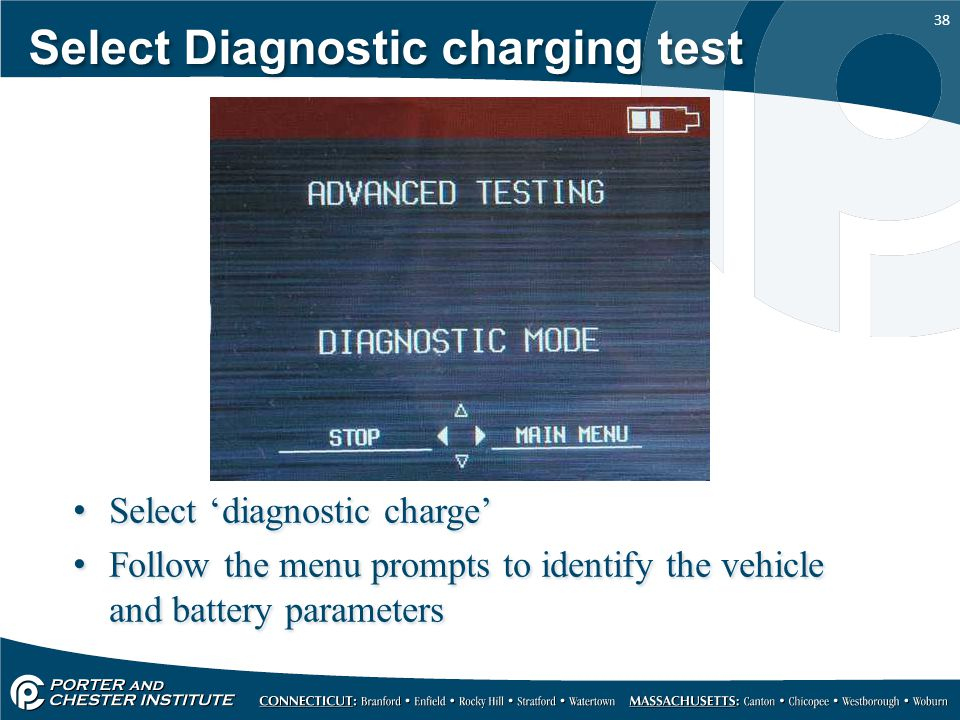 Select Diagnostic charging test
