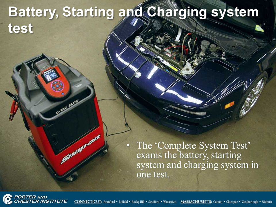 Battery, Starting and Charging system test