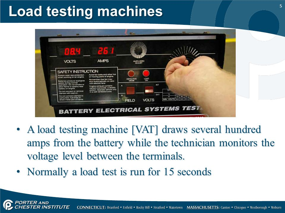 Load testing machines