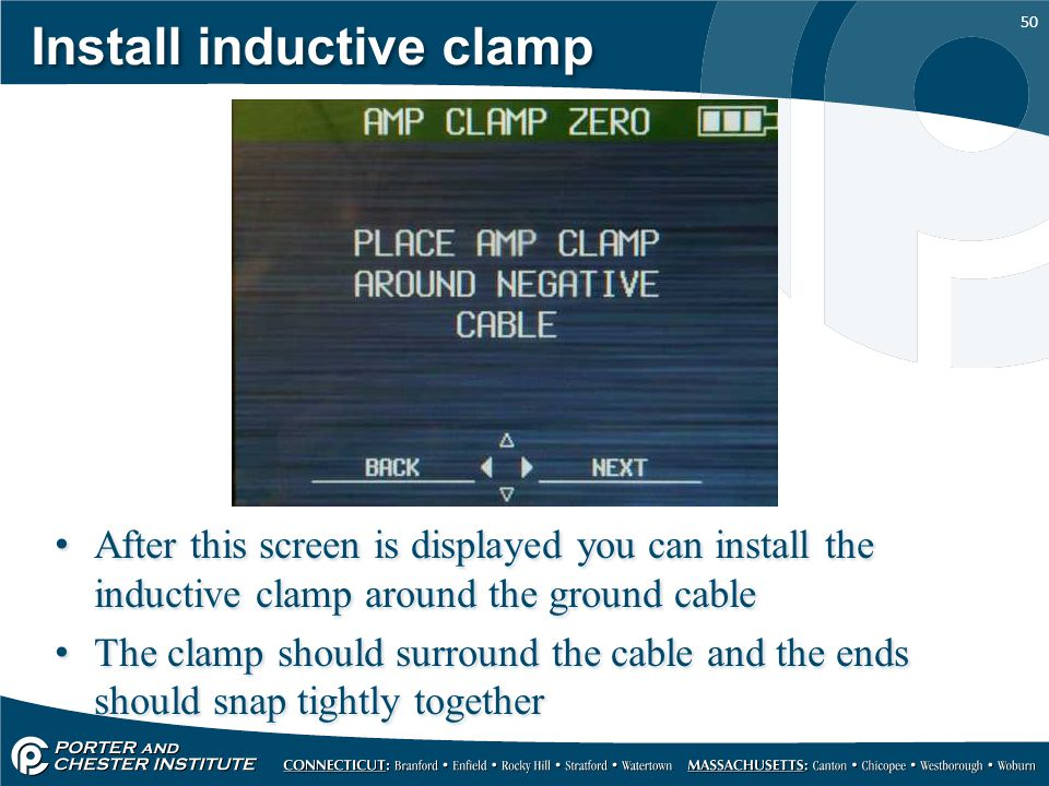 Install inductive clamp