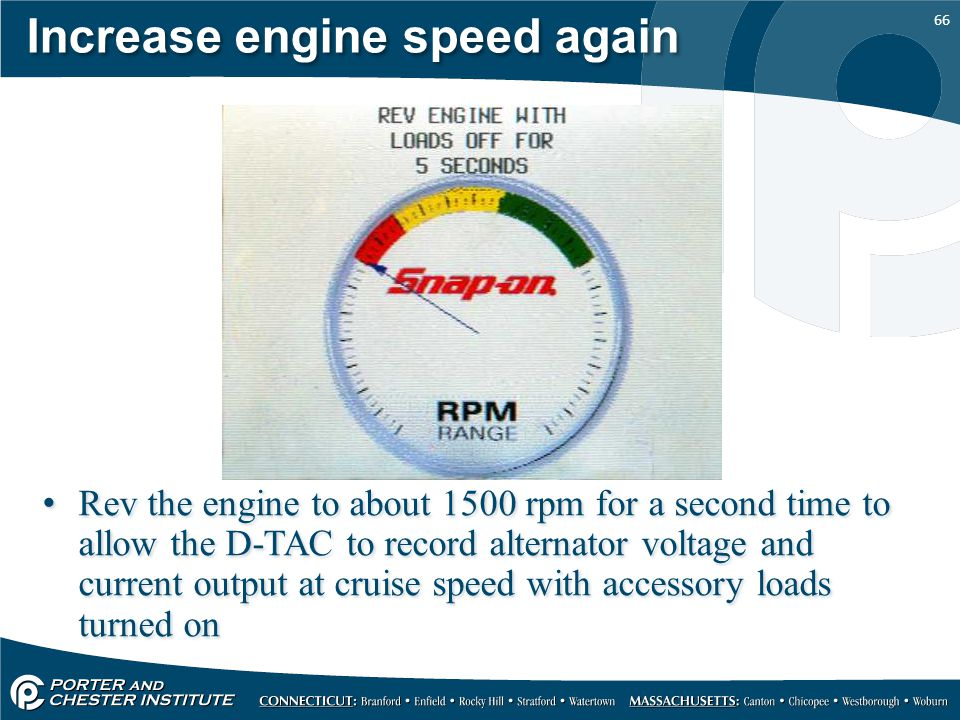 Increase engine speed again